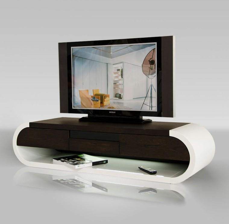 moderno futurista diseño blanco madera