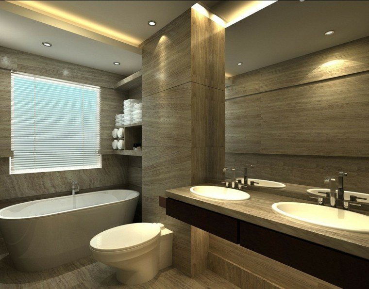Azulejos dise o madera un toque natural para tu ba o Small bathroom design software free