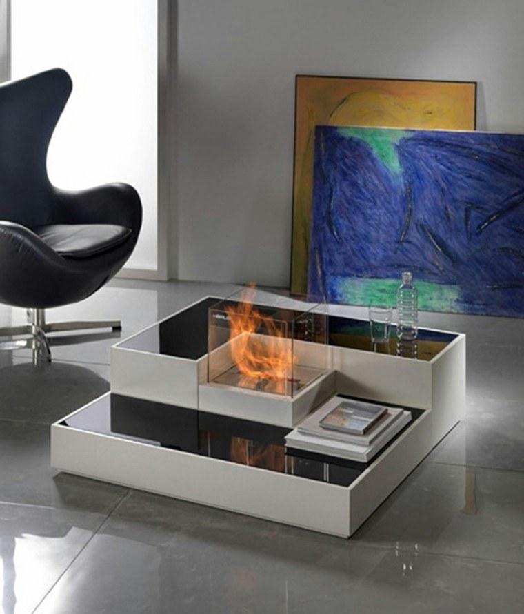 moderno mesa chimeneas diseño sillas