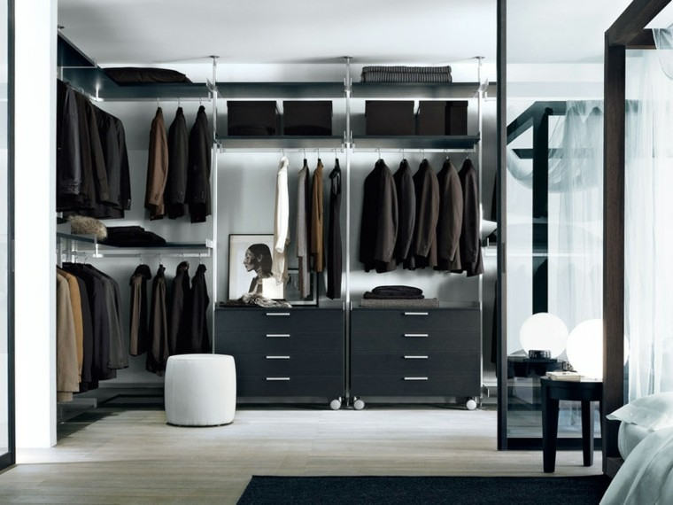 vestidor dise os en 50 ideas que renovar n tu espacio. Black Bedroom Furniture Sets. Home Design Ideas