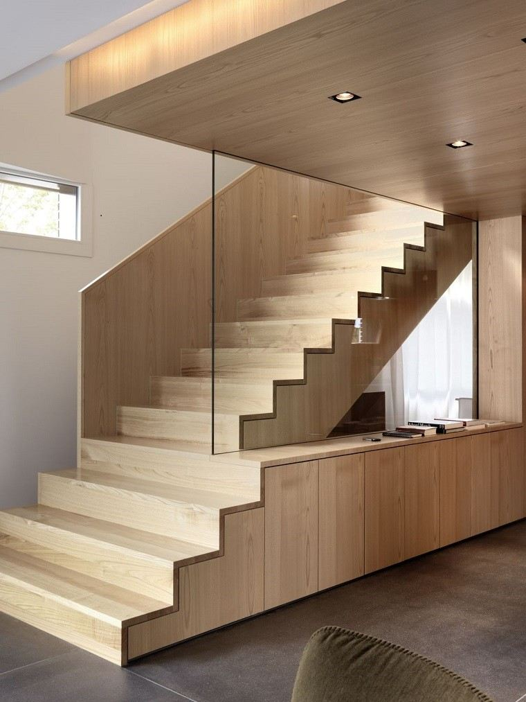 Decorar escaleras con estilo 50 ideas - Pisos para escaleras interiores ...