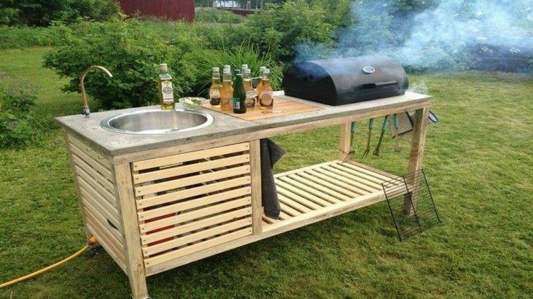 mueble cocina madera pallet lavabo