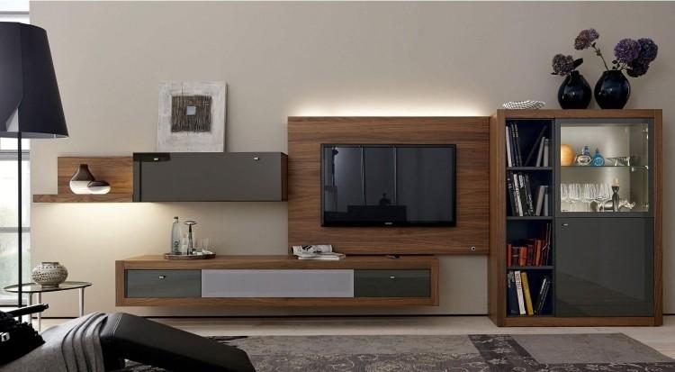 mueble con luces led y frente de cristal