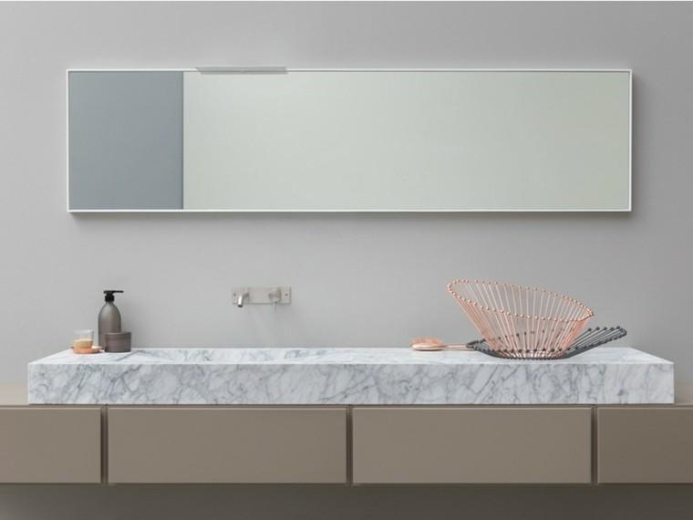 mueble lavabo bloque marmol blanco