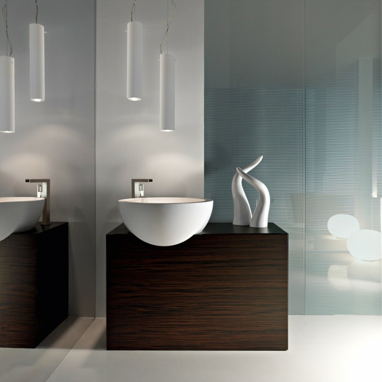 Lavabos de dise o moderno 38 modelos espectaculares - Mueble lavabo madera ...