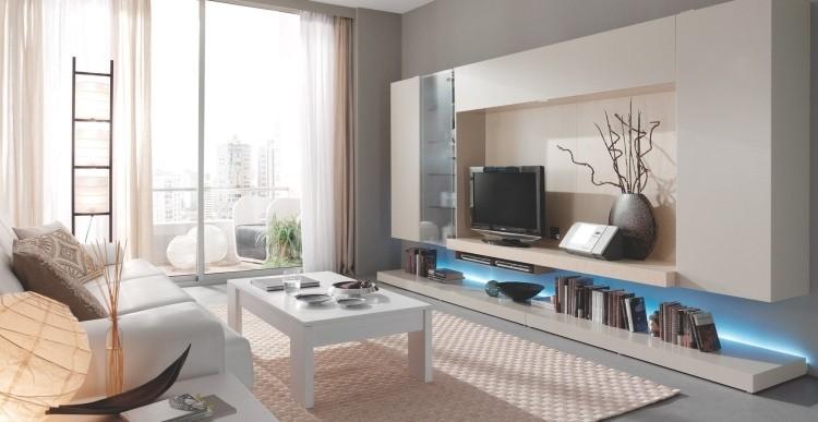 mueble rama cortinas blanco mesa