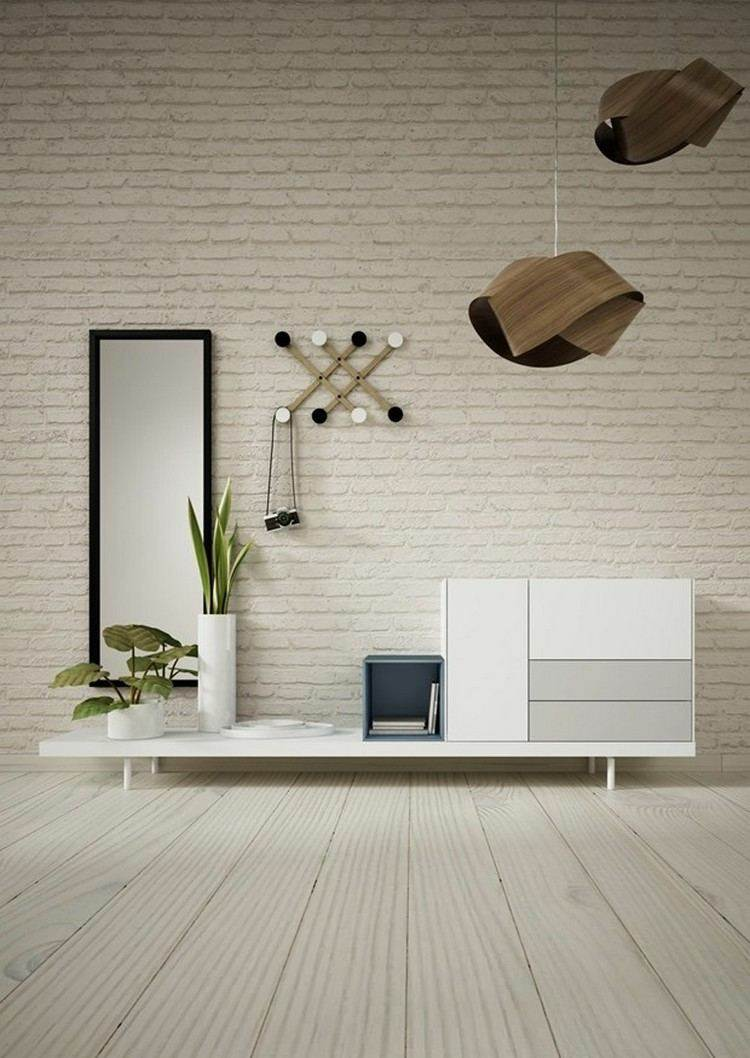 mueble salon color blanco comoda