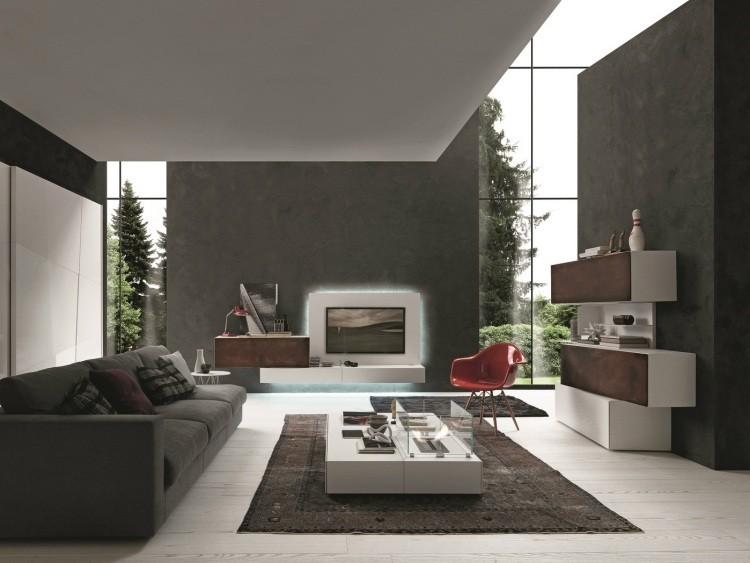 mueble unidad pared cojines atraccion