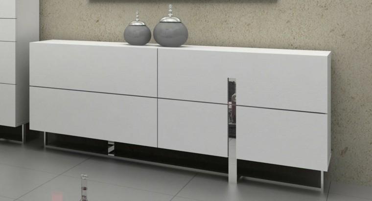 mueble vestidor color blanco estrecho