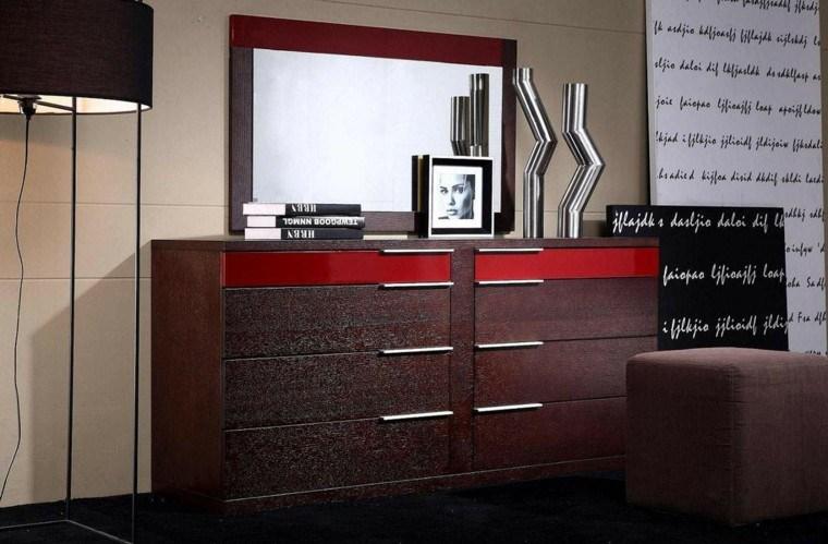 mueble vestidor diseño franja roja