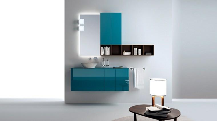 Ba os de color cincuenta ideas estupendas for Banos azules y grises