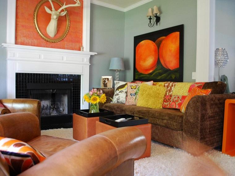 Colores calidos para el sal n 50 ideas impresionantes - Pintar salones modernos ...
