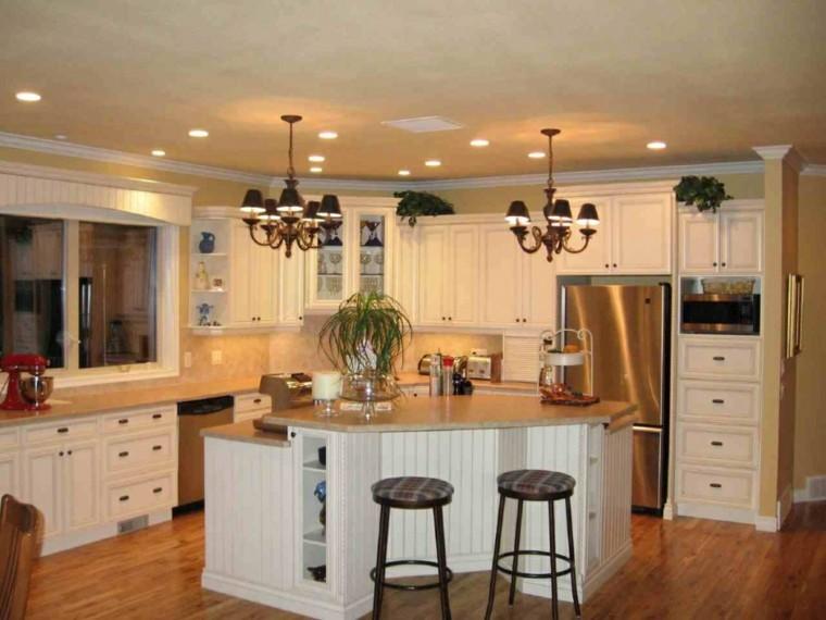 muebles de cocina tradicional blancos