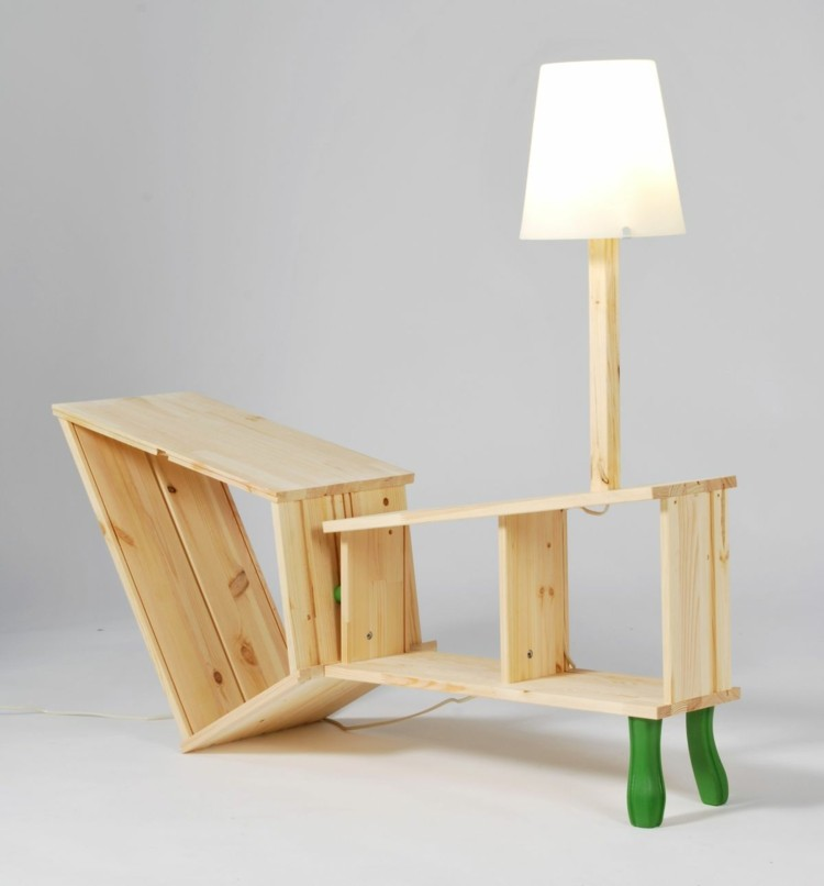 muebles de diseño mesilla madera