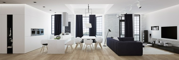 muebles de salón modernos abierto comedor ideas