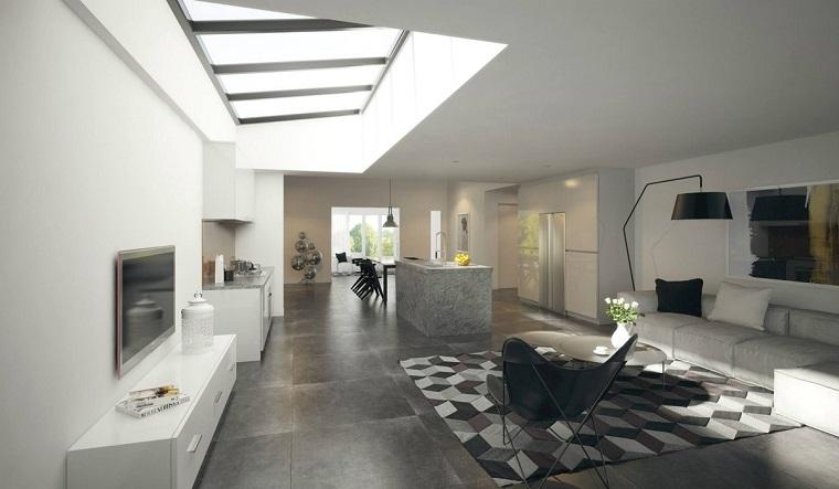 muebles de salón modernos alfombra preciosa ideas