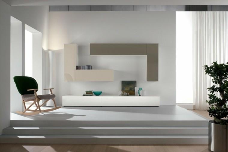 Muebles de sal n modernos 50 ideas impresionantes - Armarios para el salon ...