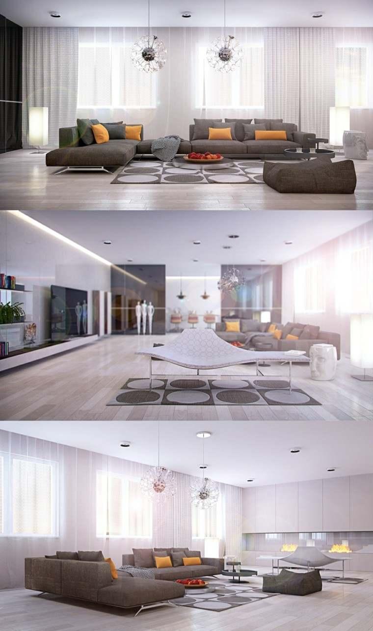 muebles de salón modernos plato decorativo grande ideas