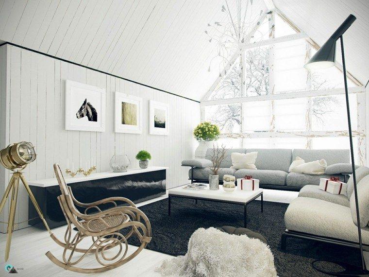 muebles de salón modernos silla balanceadora ideas