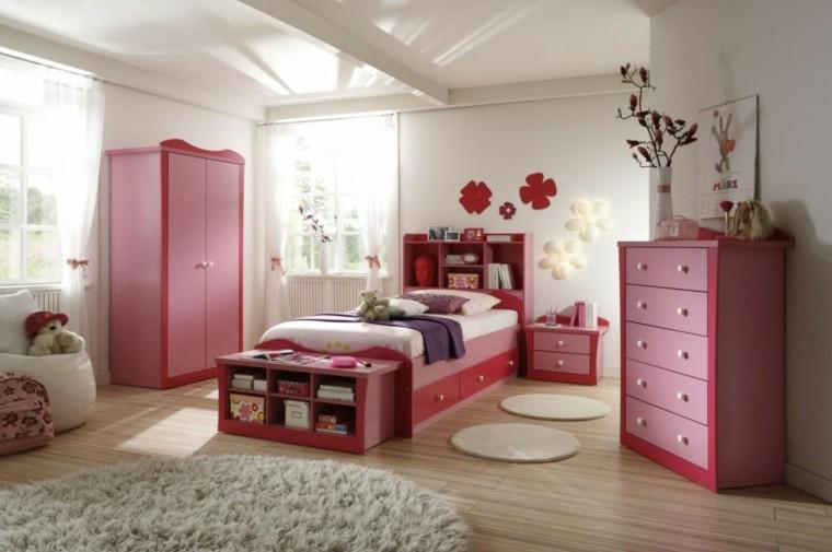 muebles dormitorio niña rosa