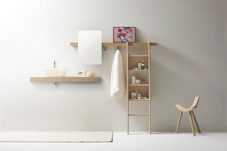 muebles estantes madera clara natural
