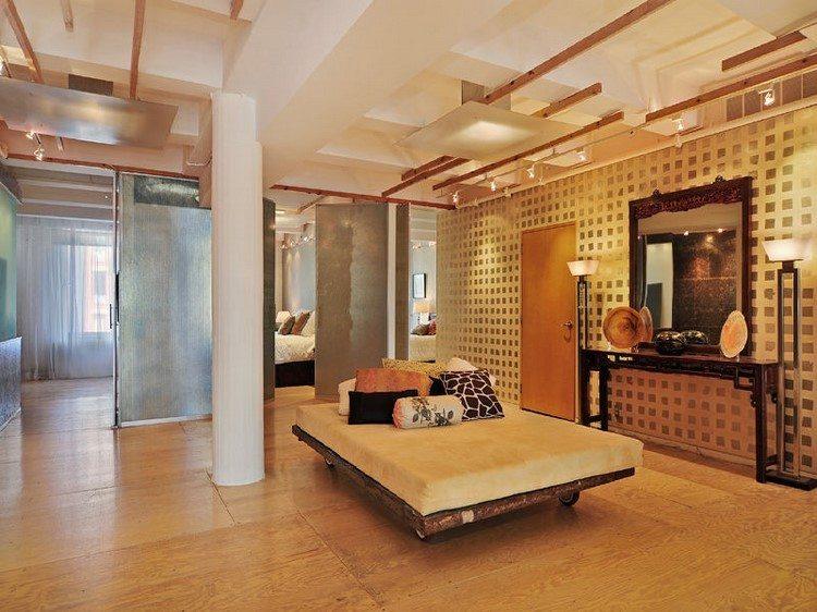 muebles estilo industrial cama ruedas dormitorio ideas