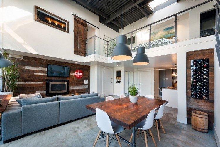 muebles estilo industrial mesa sillas preciosos comedor ideas
