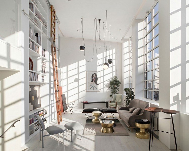 muebles estilo industrial mesas cafe acero lamparas interesantes ideas
