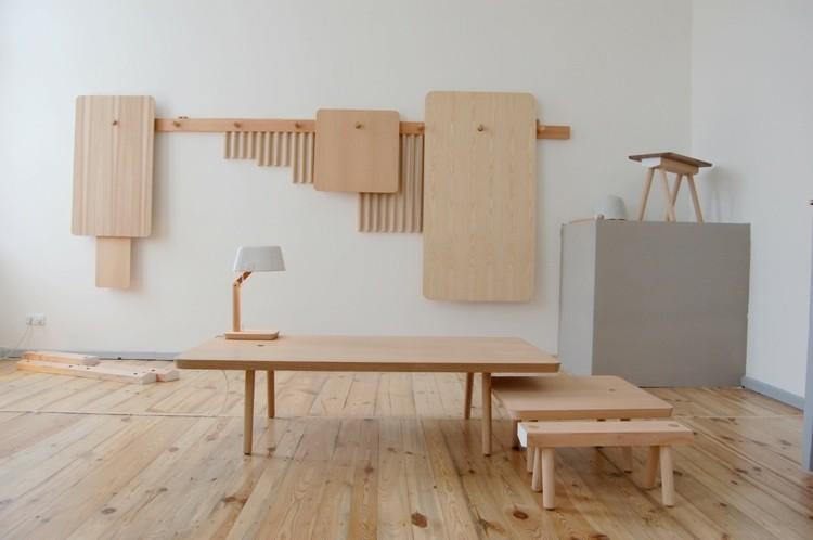 muebles madera natural sin trabajar