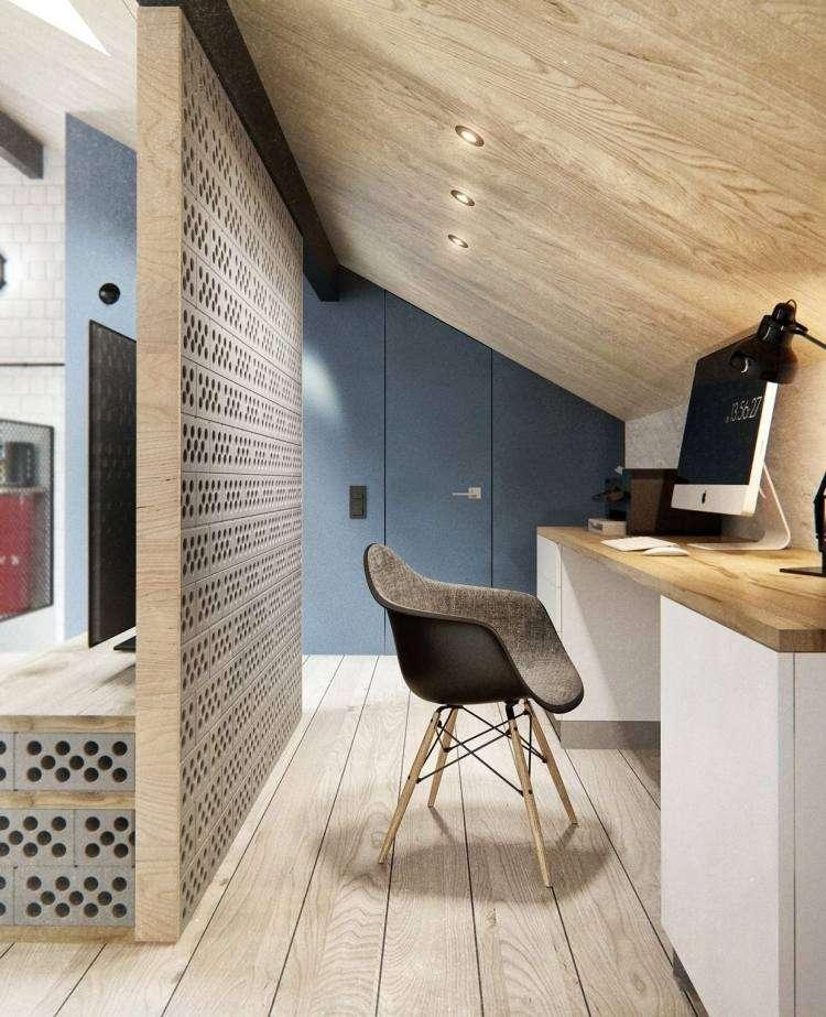 muebles moderno estilo industrial escritorio silla diseno ideas