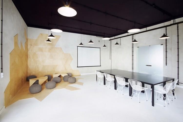 muebles moderno estilo industrial taburetes puff sillas acero blanco ideas