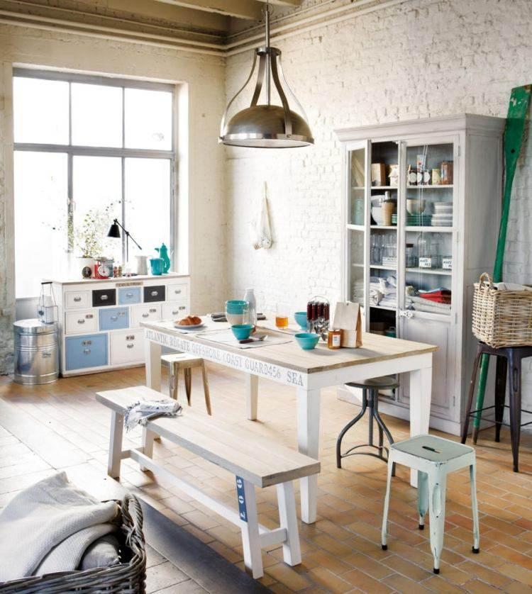 muebles modernos estilo industrial armario banco madera ideas