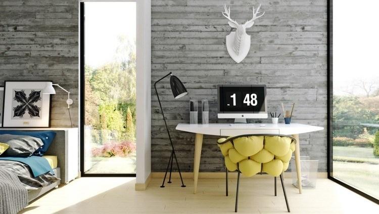 muebles modernos estilo industrial dormitorio escritorio ideas