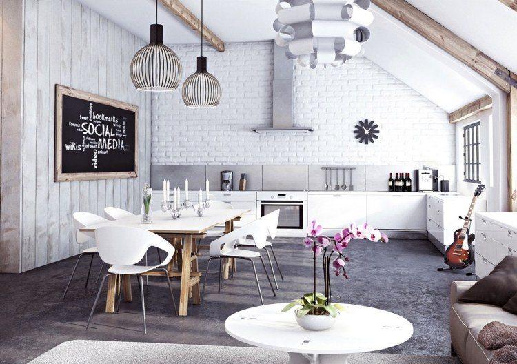 muebles modernos estilo industrial mesa madera ideas