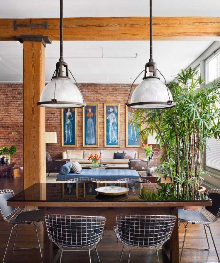 muebles moderno estilo industrial sillas acero ideas