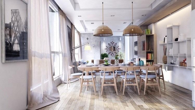 muebles modernos estilo industrial sillas mesa comedor originales ideas