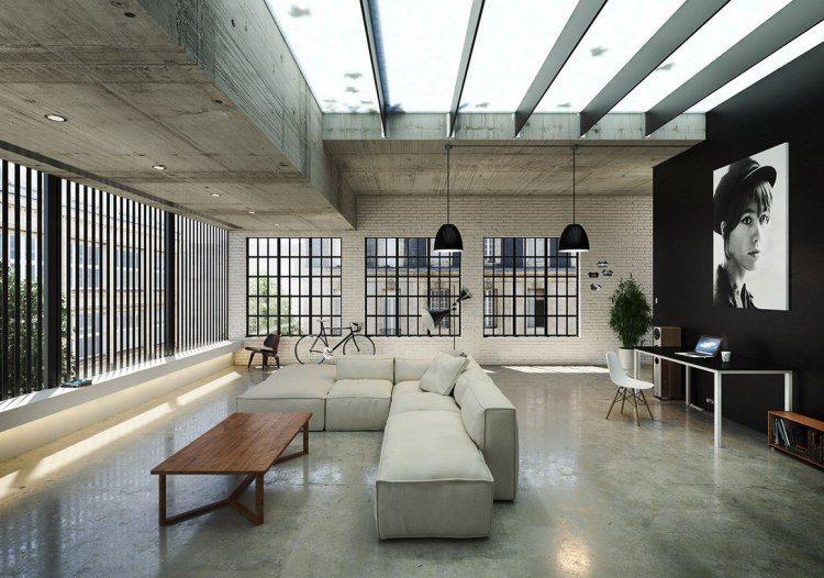 muebles modernos estilo industrial sofa grande ideas