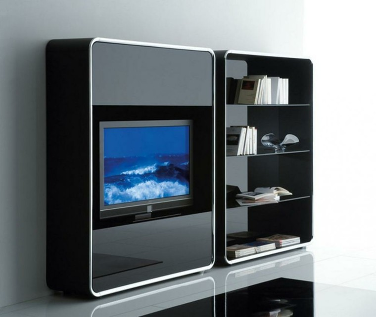 Muebles para tv 50 propuestas creativas y modernas for Televisores en la pared