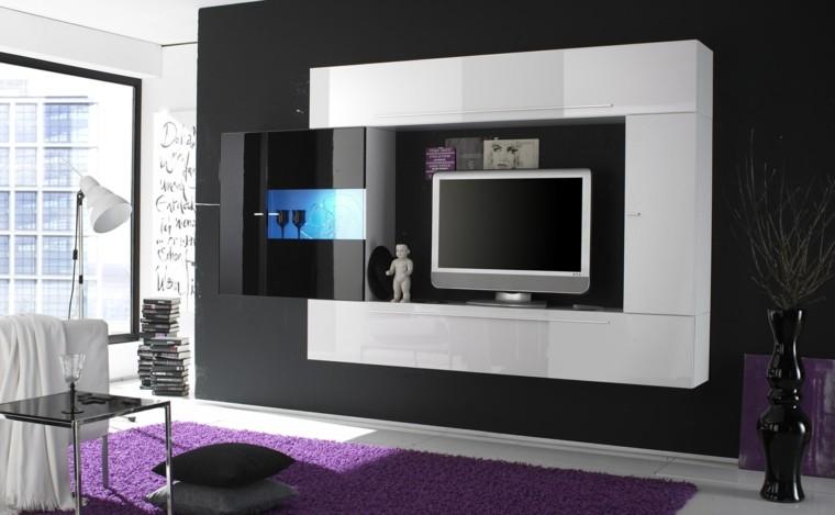muebles para tv lujo cojines led