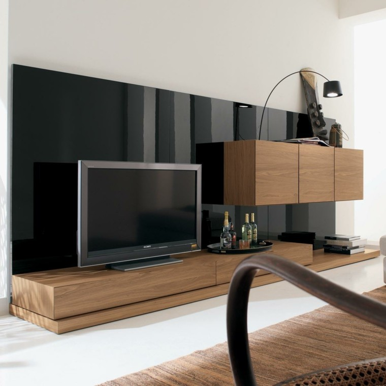 Muebles para tv 50 propuestas creativas y modernas - Deco lounge tv ...