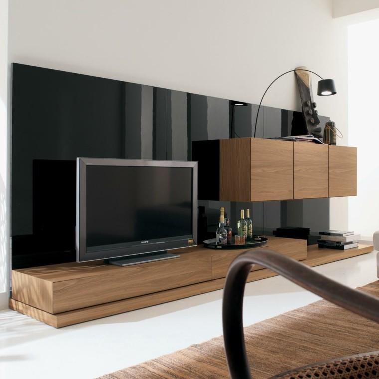 Muebles para tv 50 propuestas creativas y modernas - Muebles para tv madera ...