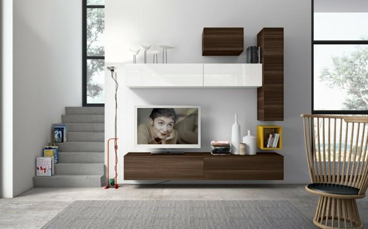 Muebles para tv 50 propuestas creativas y modernas for Soggiorno minimalista