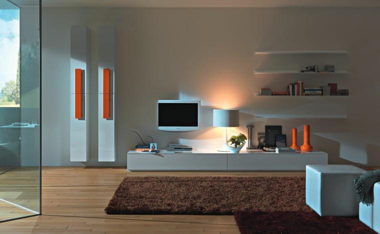 muebles para tv moderno naranja