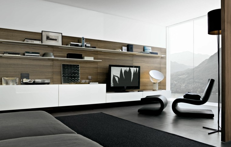 muebles para tv salon elegante sillas