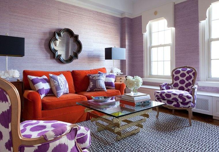 muebles rojo creativo espacio espejo
