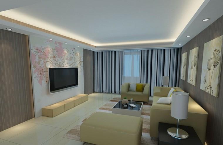 muebles salon color amarillo claro