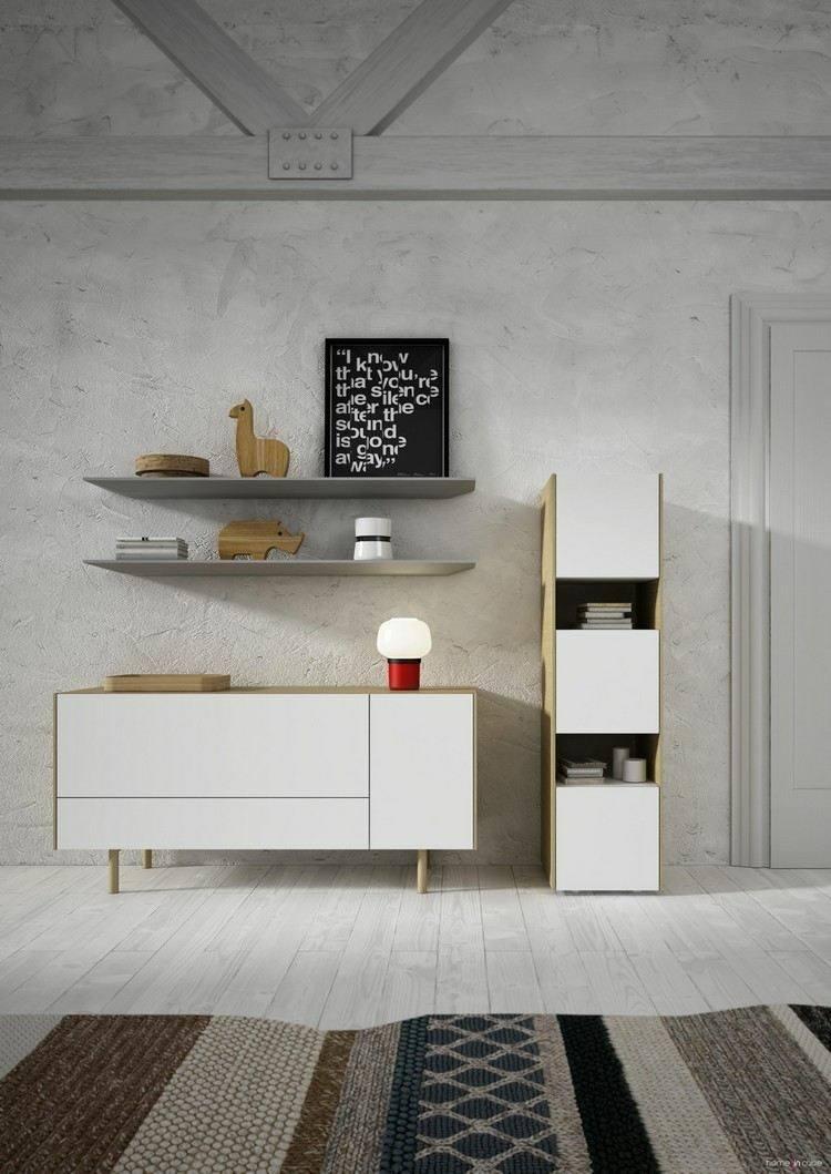 muebles salon blancos estilo retro