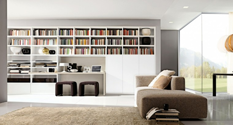 Muebles de sal n modernos 50 ideas impresionantes for Muebles de escritorio modernos para casa