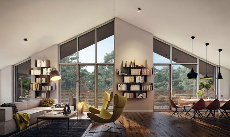 muebles salon moderno estanterias sillones preciosos ideas