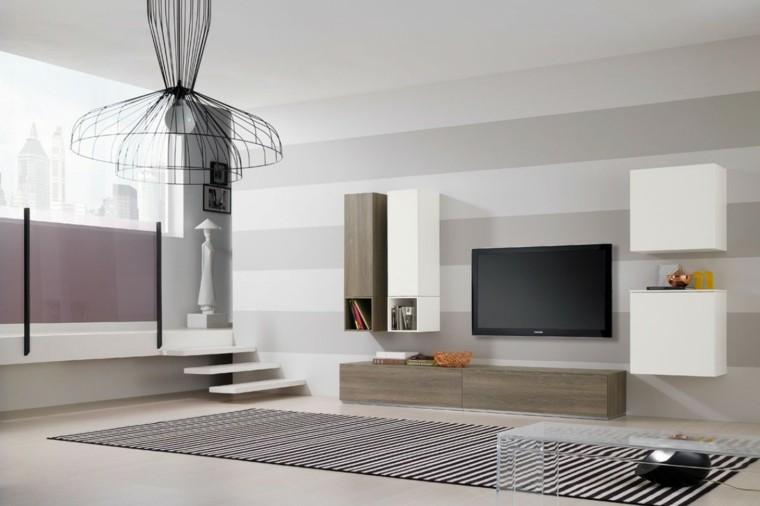 muebles salon moderno mesa plastico trasnparente ideas